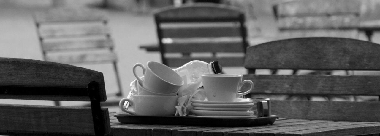 Crockery on table at restaurant