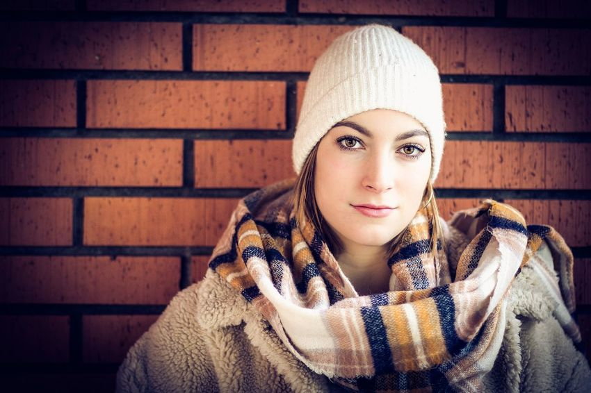 scarf Portrait Winter Warm Clothing Clothing Beauty Women Hat Adult Beautiful Woman Young Adult Cold Temperature One Person Beautiful People Looking At Camera Fashion Females Headshot Young Women Scarf