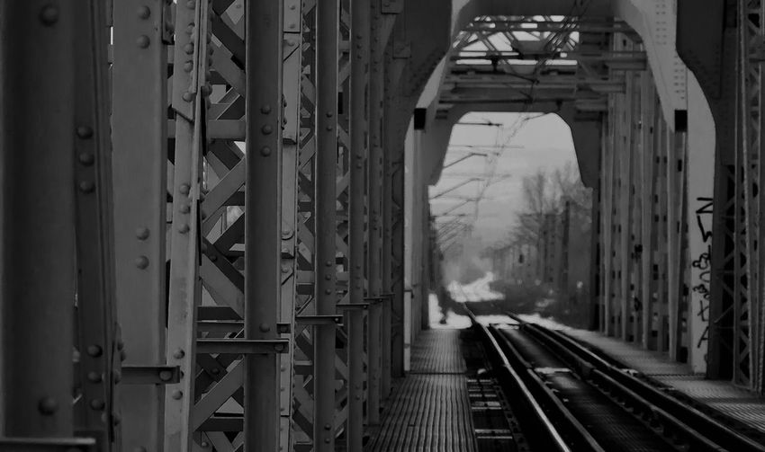 The bridge suicide. Haunted place in the Cracow, Poland. No People Train Tracks Kraków, Poland Haunted Places