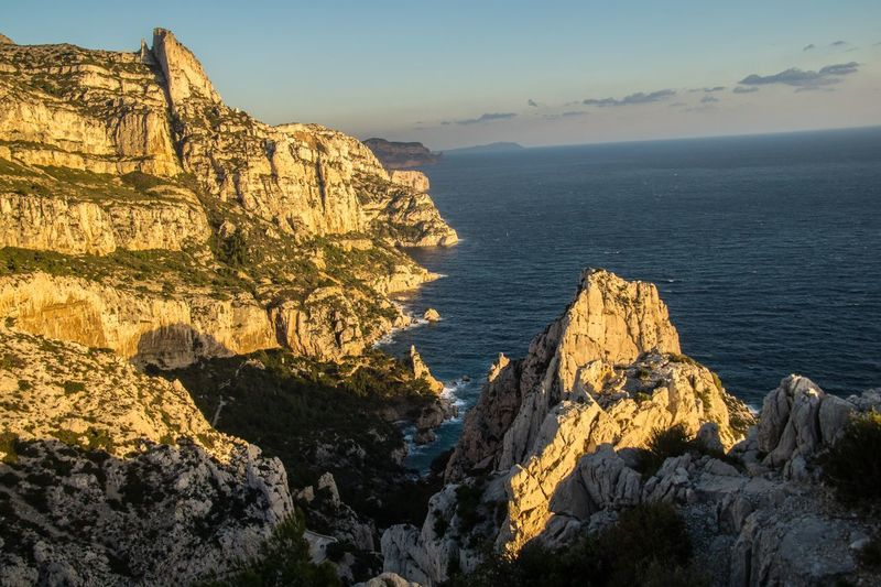 marseille,calanque,bouche du rhone, france Sea Scenics - Nature Rock Sky Beauty In Nature Rock Formation Rock - Object Solid Tranquil Scene Mountain Water Tranquility Nature Cliff Non-urban Scene Land Day Horizon Over Water Idyllic No People Mountain Range Outdoors Formation Eroded Rocky Coastline