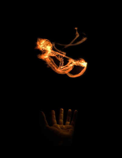 feto de fuego Art Arte Black Background Born Burning Close-up Contraste Feto Heat - Temperature Human Body Part Human Hand Illuminated Indoors  Night One Person People Studio Shot