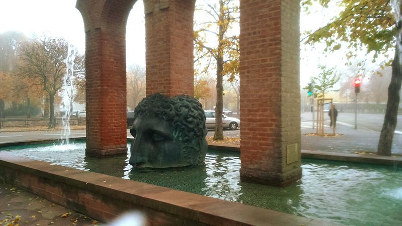Strasbourg Statue Fountain Sculpture Water JANUS Tomi Ungerer HEAD Alsace Art Is Everywhere Neighborhood Map Shades Of Winter This Is Masculinity Adventures In The City