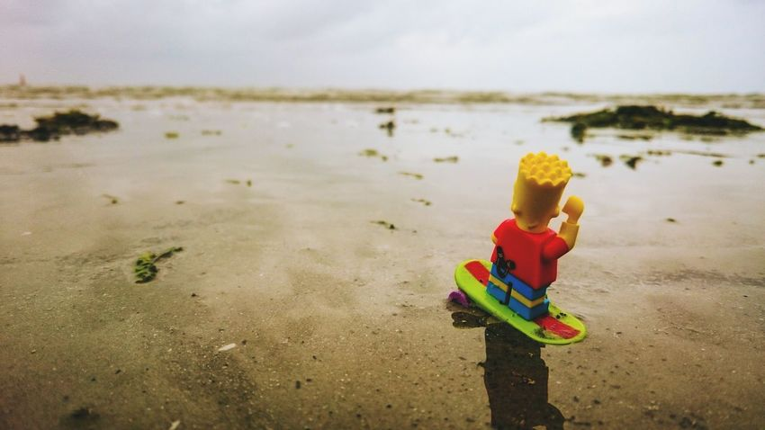 Surfing... 🏄 🏄 🏄 Taking Photos LEGO Minifigures Figurephotography Surfing Toys Bart Simpson Water Beach Norderney Playing Around Just For Fun Hello World Check This Out Legophotography Lego Minifigures Showcase June Xperiaphotography XperiaZ3 Sonyphotography On The Way