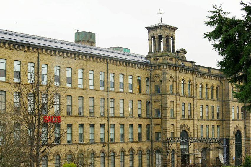 Outdoors Titus Salt SALTS Built Structure Building Exterior Architecture Old Buildings Rainy Day Mills Street Photography Mill Town Bradford Saltaire Street No People Salts Mill Mill POV Perspective Windows Old Mill