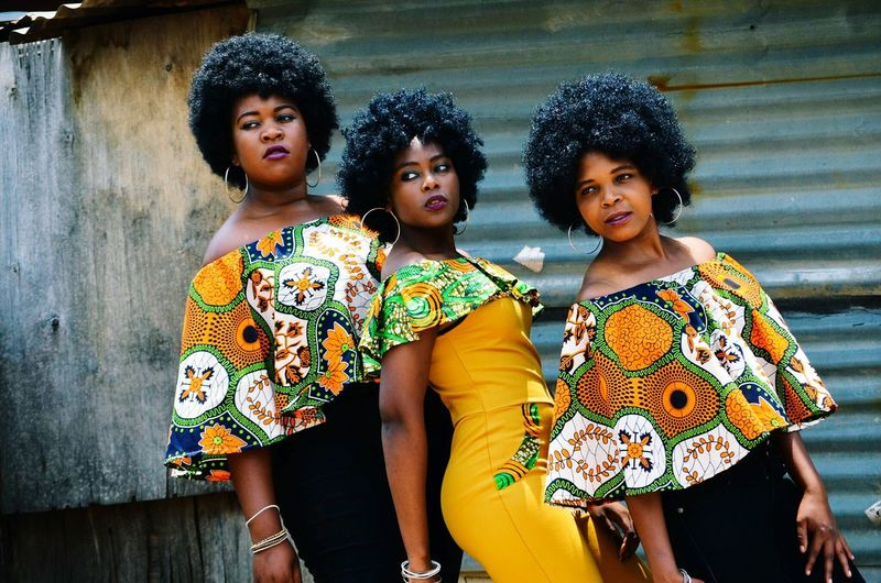 Fashion Girls Outdoors Beauty Afro Togetherness African Beauty