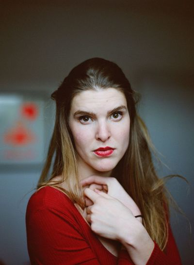 Madame V. Fujifilm Film Looking At Camera Portrait One Person Young Adult Red Young Women Real People Indoors  Beautiful Woman Red Lipstick Day People Close-up The Portraitist - 2018 EyeEm Awards