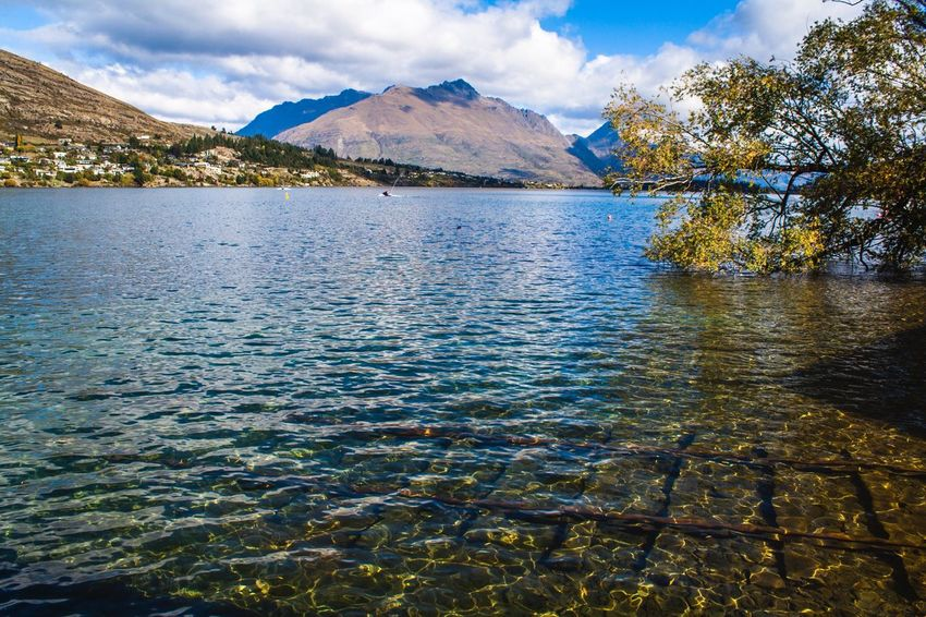 The Great Outdoors - 2016 EyeEm Awards New Zealand New Zealand Scenery Landscape Lake Mountains Mountains And Water Natural Beauty Jetskiing Water And Sun Clear Day Yellow And Blue Rusted Metal  Water Reflections