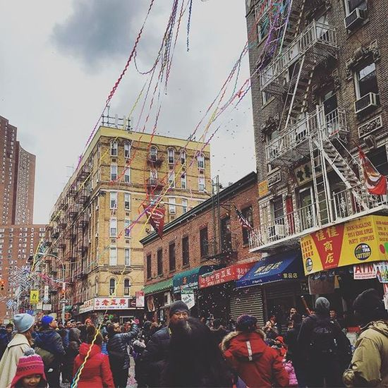 Happy New Year 🎉🎉🎉🎊 Chinatown Confettis Colorful Yessjustjess Newyears Yearofmonkey 🐵