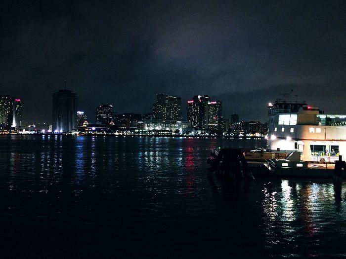 New Orleans Nightlife Riverwalk Mississippi River