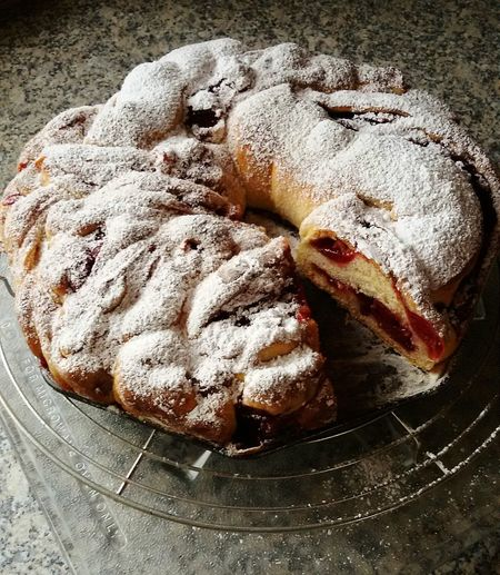 Hello World Hi Easter Ready Cake Handmade Taking Photos Cake With Fruit Hefezopf 🍀 Breakfast Coffee Time Freshcake food