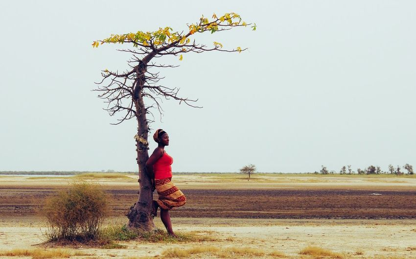 African horizons Horizon Senegal African Beauty Sky One Person Nature Real People Plant Clear Sky Full Length Landscape Standing