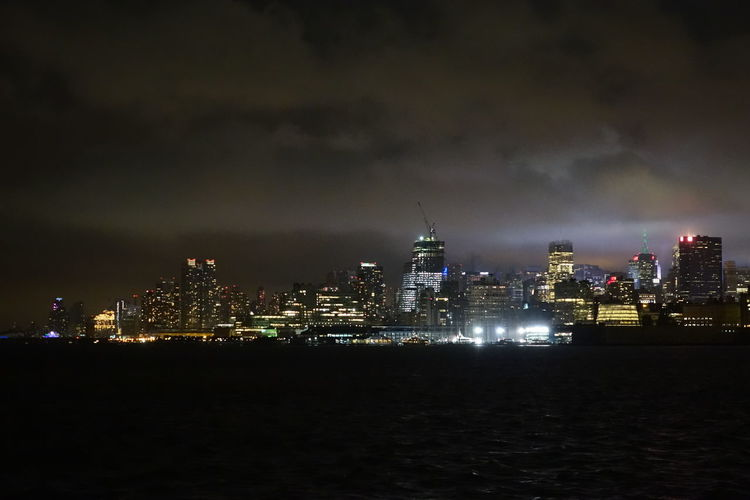 A Memory Captured Light In Darkness New York View From Jersey Open Air Dinner Pizza And Drinks United States Of America