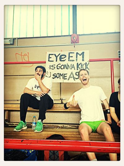 EyeEm Dodgeball 2014 we didn't in the end...but matias looks like he knew it from the start. ;)