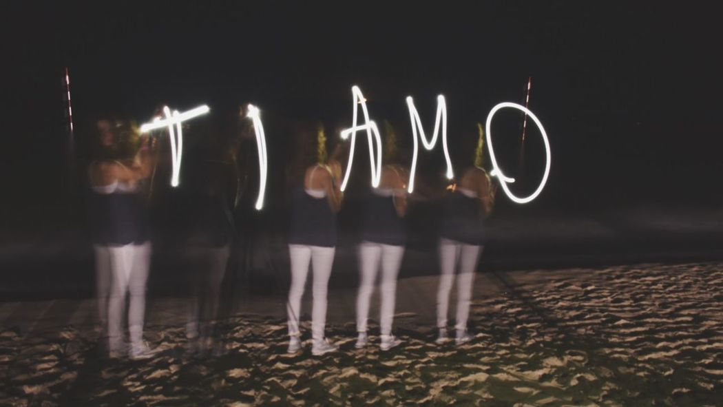 Writing with Light and without light. Check This Out Night Writing With Light Ti Amo I Love You Dark Sea Love