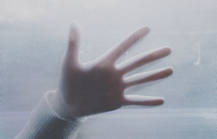 Close-up Day Frosted Glass Human Hand Indoors  Pattern Shadow
