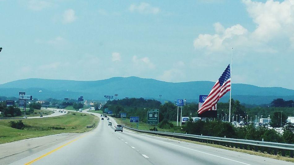 Flag Patriotism Road Travel Destinations No People Outdoors Sky Day Travel Popular Photos My Original Photo