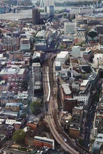 Up the junction Toytown Vertigo Lookingdown City Closeup Capital City City View  Tall Buildings Architecture Streetphotography Cityscapes Close-up Architecture_collection Modernism London Daytrip View The City View From Above Skyline Traintracks Train