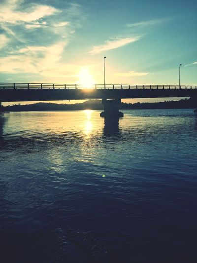 Sky Water Sunset Cloud - Sky Nature Bridge Waterfront Beauty In Nature Scenics - Nature No People First Eyeem Photo