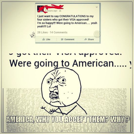 oh why America, why ? Trolling GrammarNazi Rageface America igers smh