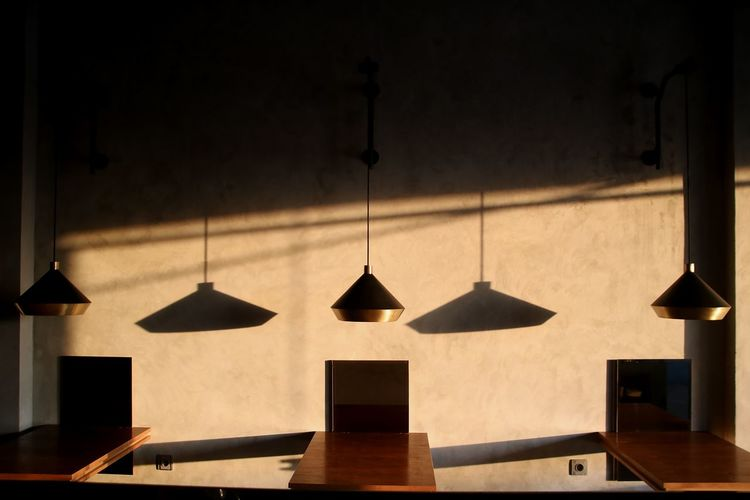 When shadows alligned Daylight Golden Hour Morning Coffee Shop Shadow