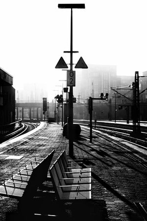 Train Station Romantic Noir Et Blanc Black And White Central Station Train Station Street City Sky Transportation Architecture Sign Road Mode Of Transportation Nature Street Light Wet Built Structure Stoplight Building Exterior Rail Transportation Clear Sky Outdoors The Street Photographer - 2018 EyeEm Awards