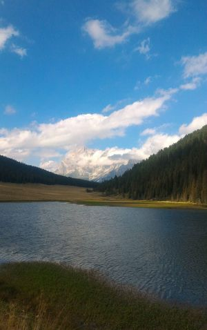 Beautiful Day Lake Summer Mountains