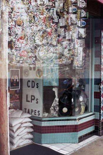 multiple exposure Cdslpstapes Cow Double Exposure Doubleexposure Film Film Photography Filmisnotdead Hodads Howweusetobuymusic OceanBeach Recordstore Sandiegoca Sandiegoonfilm Twophotogs Whatsonthestreet Window