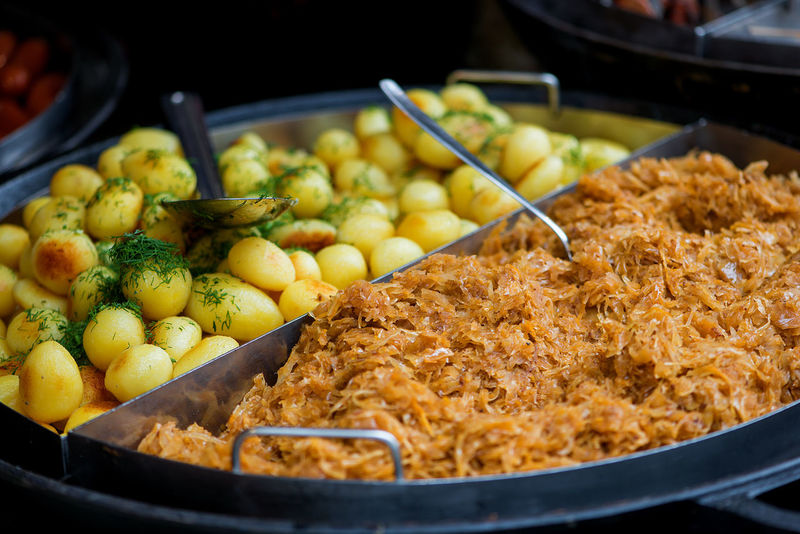 Fast Food Food And Drink Frying Pan Cabbage Close-up Day Food Food And Drink Food Industry Freshness Healthy Eating Holiday Food Indoors  National Food No People Patatoes Ready-to-eat Food Stories