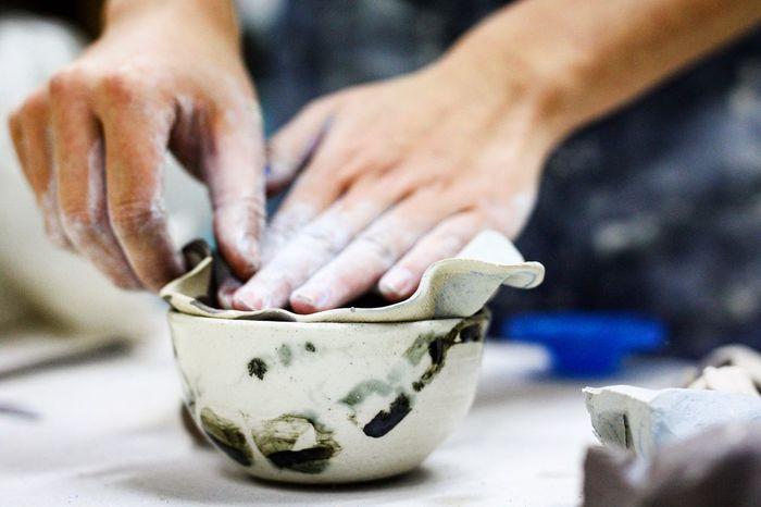 Close-up Human Hand Ceramics Ceramic Art Creative Handmade Art Design Designer  Inspirational Ceramic Clay Freestyle HandPainted Decor Eye4photography  EyeEm Gallery