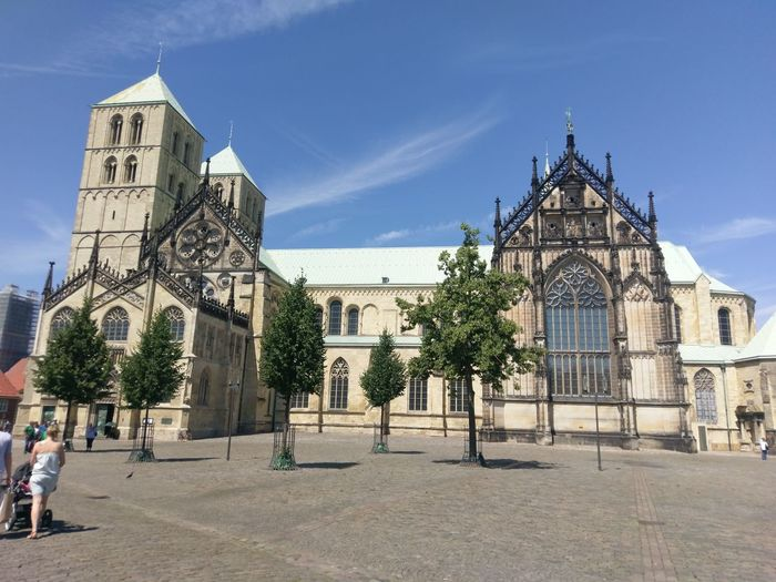 Architecture Travel Destinations History Built Structure Building Exterior People Outdoors City Sky Day Tree Adult Adults Only Münster, Münster Dom Cathedral Münster Germany Münster In Westfalen