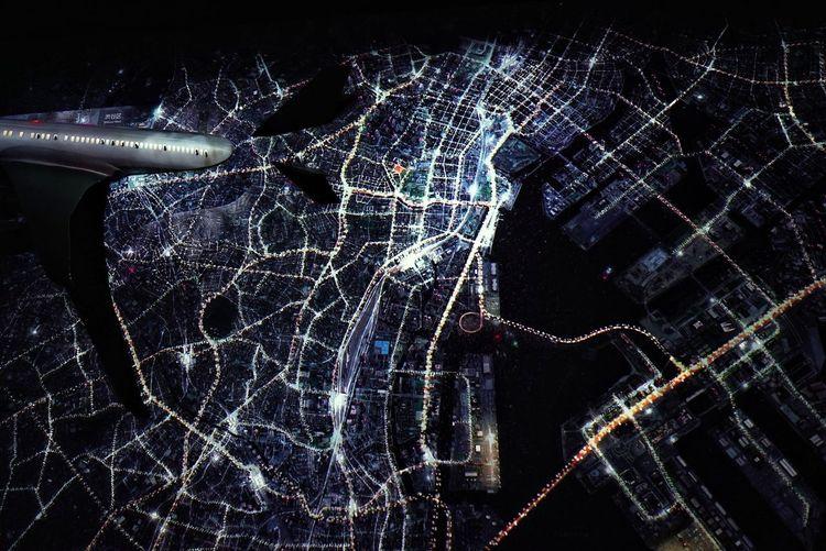 Tokyo Nights Night City Airial View Art Exhibit Exhibit  Night Lights Night Road Lines Projection Mapping Hello World Enjoying Life From My Point Of View Taking Photos Tokyo Art City Exhibition Tokyo, Japan