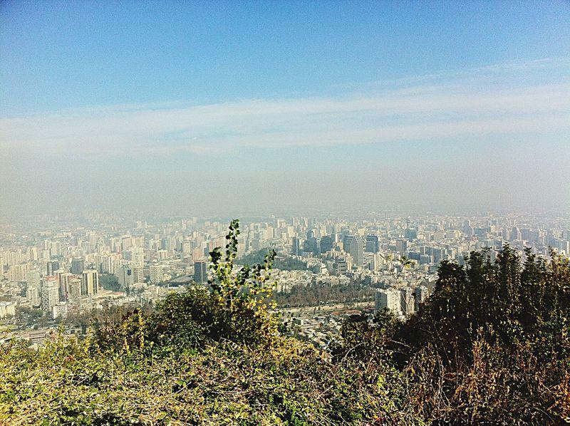 Cerro San Cristobal Cityscapes Sancristobal Chile Smog Global Warming IPhoneography