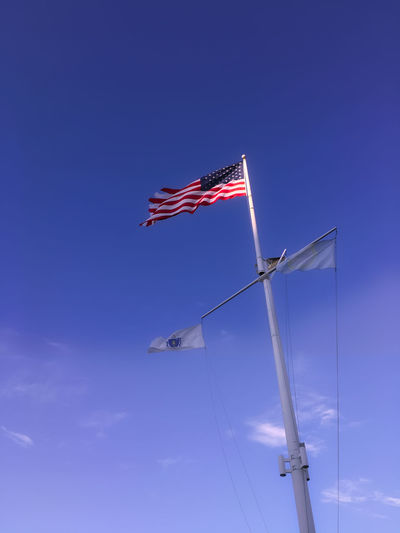 US-Flag Clear Sky Copy Space Day Extreme Sports Flag No People Outdoors Sky USA USA FLAG Usflag Vertical