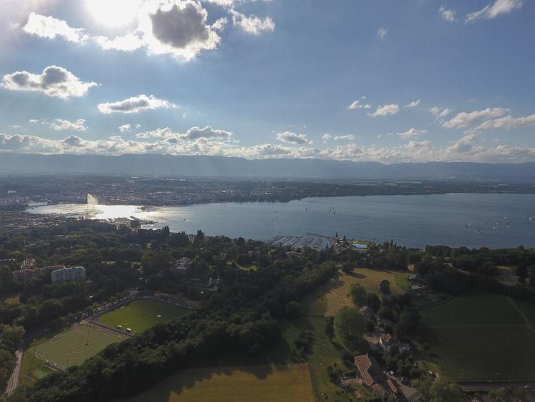 Geneva Jetdeau Lac Léman Jet D'Eau De Genève Jet D'eau GVA Cologny