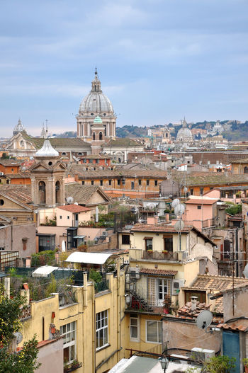 View of Rome from the Trinita dei Monti church, Italy Europe Trip Italia Roma Rome Rome Italy🇮🇹 Rome, Italy Streets Architecture Building Exterior Built Structure City Cityscape Day Dome Europe House House Roof Italian Architecture Italy Italy❤️ Italy🇮🇹 Residential Building Residential District Rome Italy Travel Destinations