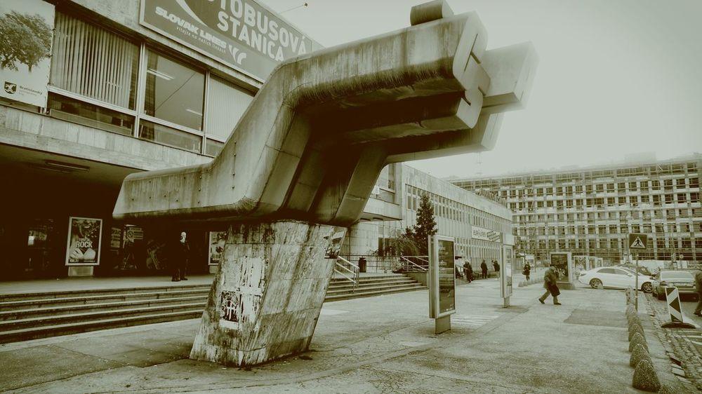 Streetphotography Slovakia Bratislava, Slovakia Autobusovastanicabratislava Csad Vintage Architecture Photomanipulation Vanishing Point