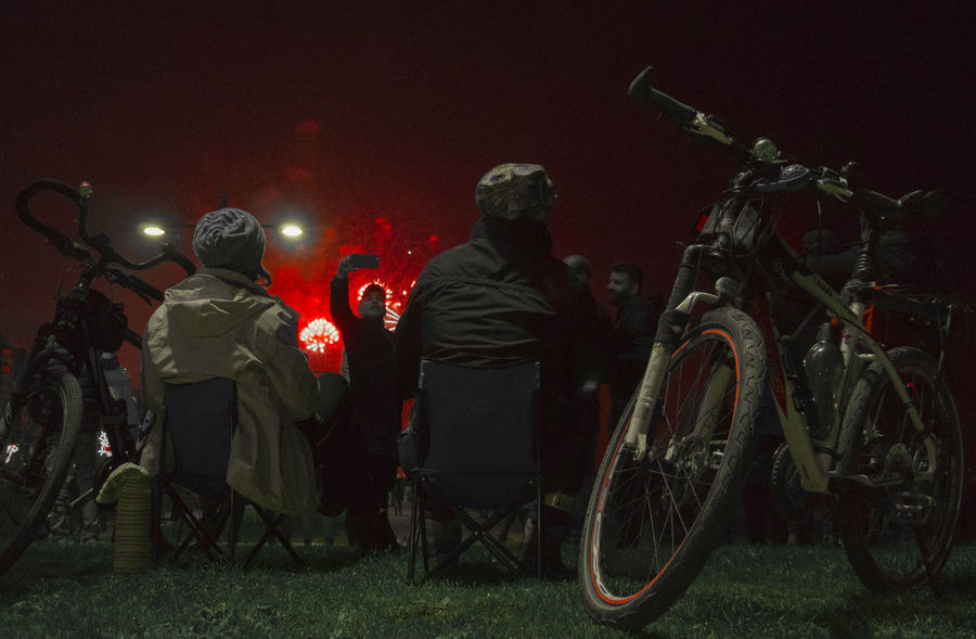 Best EyeEm Shot Celebration Izmir NewYear Nightphotography Tourist Attraction  Turkey Türkiye Bestoftheday Bike Biycle Fairy Lights Izmirlife Light And Shadow Night Outdoors People Sky Lantern Tourist Destination #urbanana: The Urban Playground Be Brave EyeEmNewHere