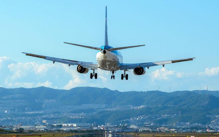 Air Vehicle Airplane AirPlane ✈ Airport Airport Runway Day Flying Mode Of Transport No People Sky 大阪空港 千里川土手