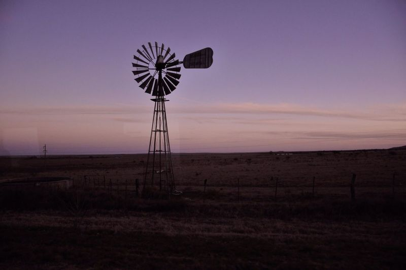 Windmill in argentina. San Luis, Argentina Agriculture Alternative Energy Beauty In Nature Day Dramatic Sky Dusk Field Horizontal Landscape Nature No People Outdoors Renewable Energy Rural Scene Scenics Sky Sunset Tranquil Scene Tranquility Wind Power Wind Turbine Windmill