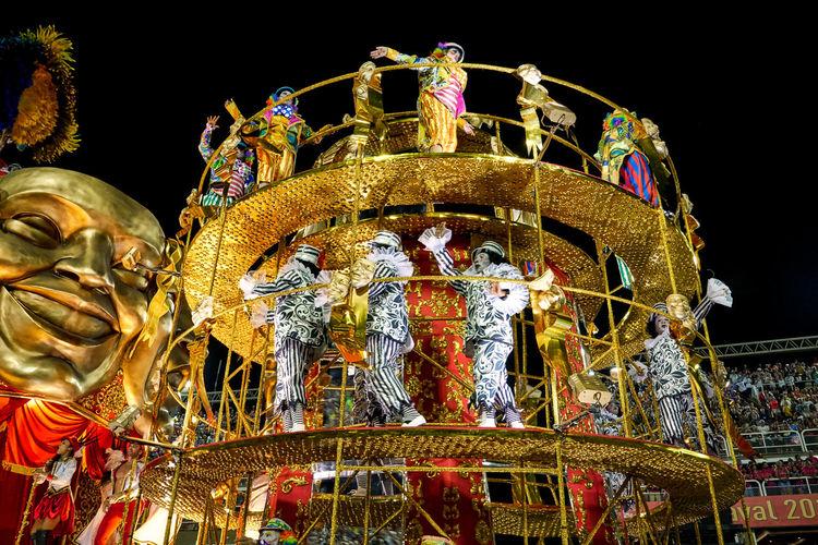 Dancers and Floats, Sambadrome, Carnival, Rio de Janeiro Carnival Riodejaneiro Samba Sambadrome Carnival Dancer Costumes Parade