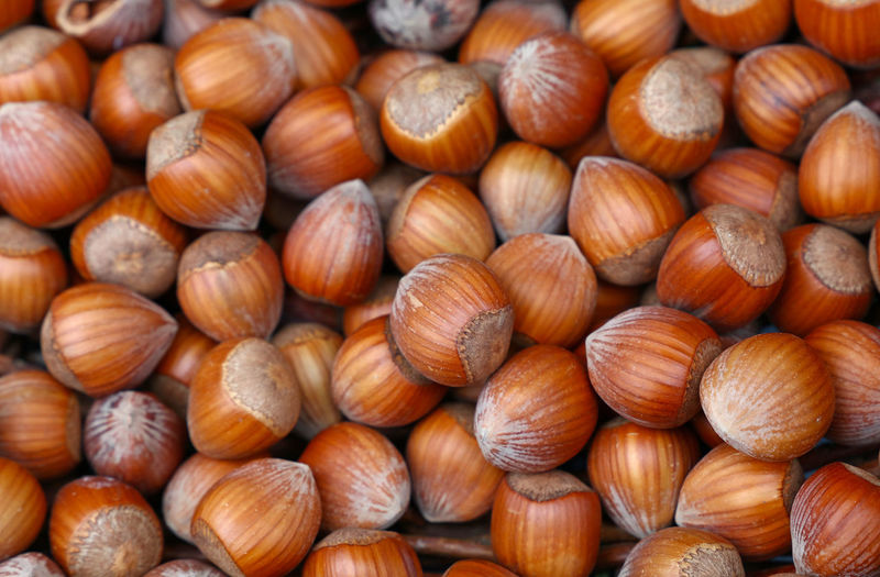 Full frame shot of chestnuts for sale in store