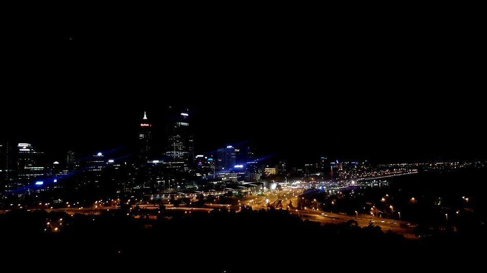 Skyline Skyline At Night Perth Skyline Buildings At Night