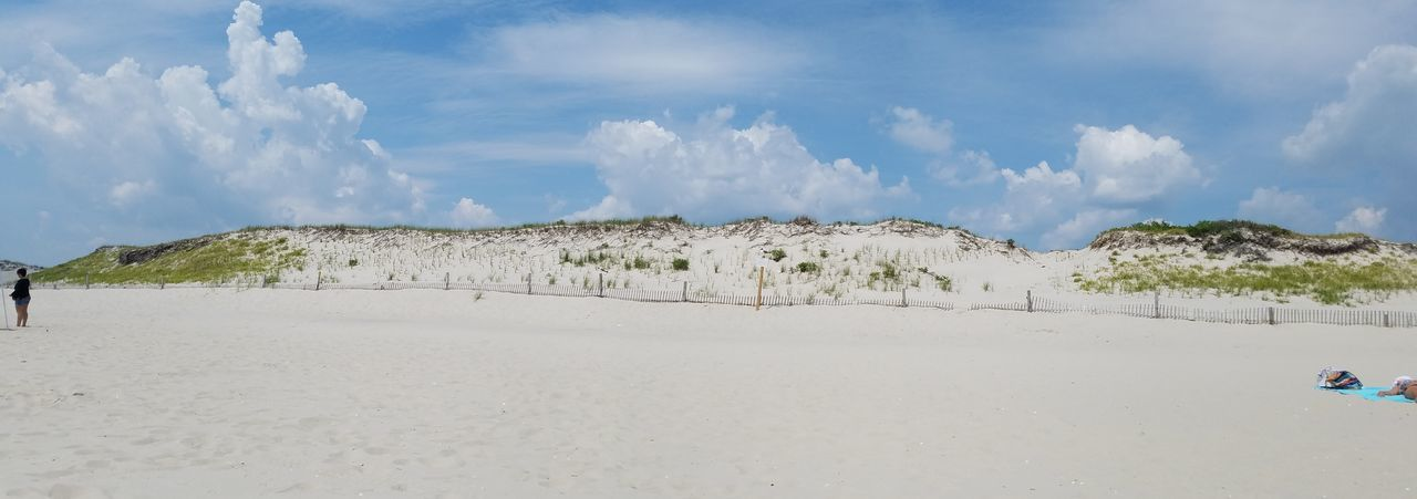Beach Dunes Vacation Sand Blue Sky Clouds And Sky New Jersey Island Beach State Park EyEm Selects Calm Low Tide Shore Coastline Sandy Beach Coastal Feature Bay Seascape