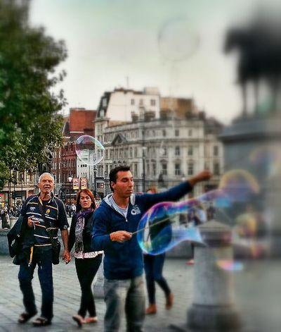 Eyeem Bubbles Everyone Loves Bubbles Trafalgar Square London 2014