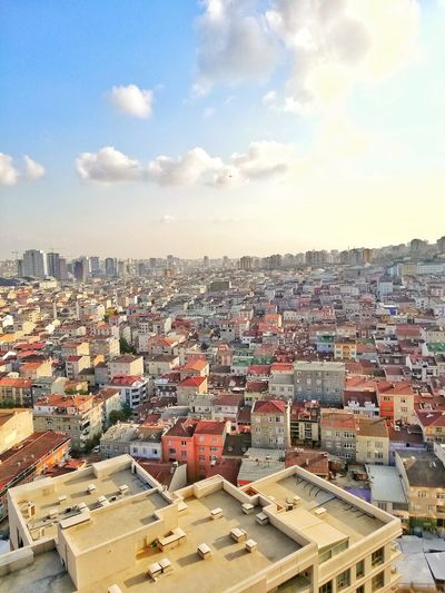 Teknik Yapı İstanbul Residance Urban Skyline Aerial View Business Finance And Industry Architecture Building Exterior Residential Structure Tiled Roof  Residential Building TOWNSCAPE Human Settlement Town Row House Housing Settlement Residential District