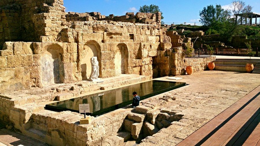 Caesarea, Herod Palace... Ceasarea Herodot Roman Anphitheater  Israel Mediterranean  The Places I've Been Today The Place To Be Archeology Vaccation Holiday