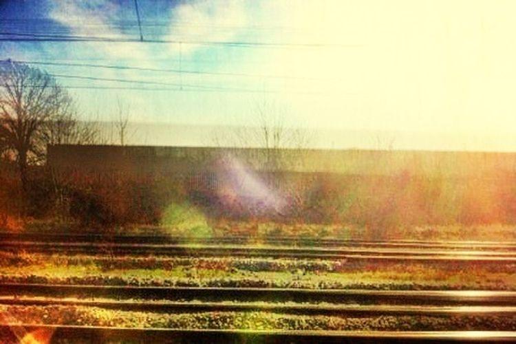 Dirty Train Window