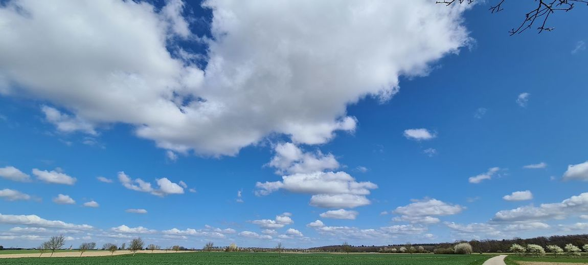 Low angle view of sky over land