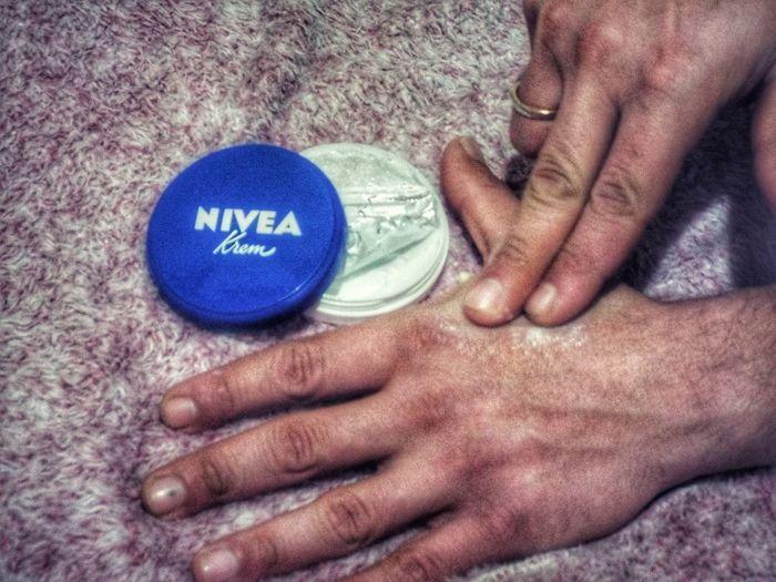 Care your self Creamy Nivea Man Care Soft Softness Human Hand Citizenship Men Text Close-up Home Caregiver Home Caregiver