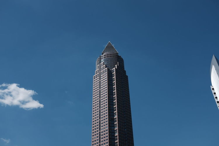 Low angle view of modern skyscraper
